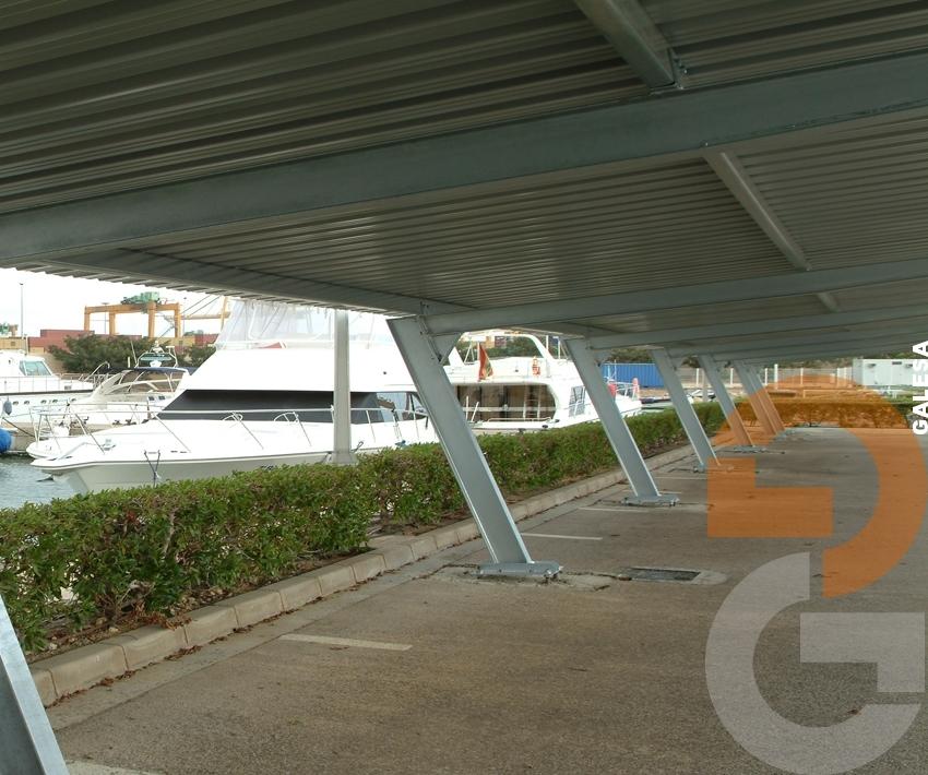Ménsulas y estructuras techado aparcamiento -