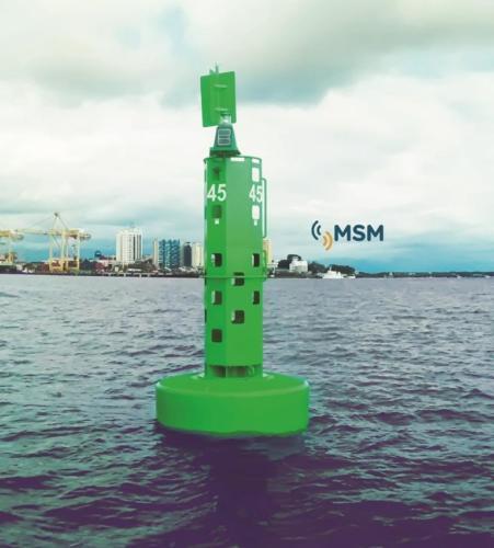 Ejemplo sistema duplex : boya elastómero alta visibilidad de Mesemar